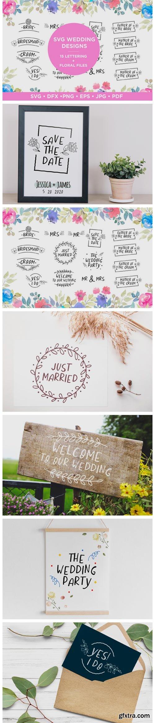 Wedding Lettering Designs Bundle 2466033