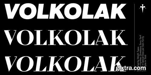 Volkolak Font Family - 113 Fonts - $750