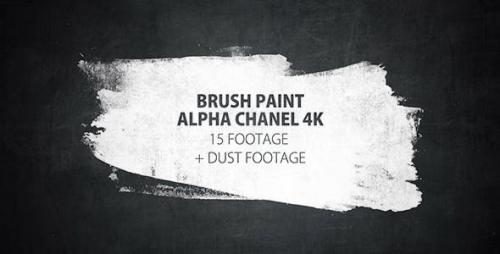 Videohive - 16 Paint Brush Stroke Transitions Reveal Pack Matte/ Oil Art Dust Ink Grunge Texture/ Chalk Board - 16143561