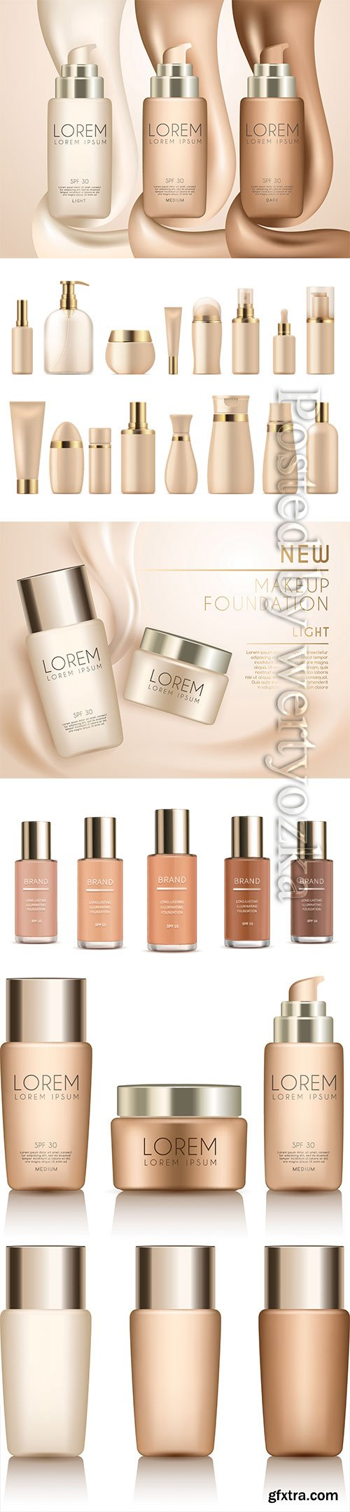 Make up and skincare packaging vector template # 2
