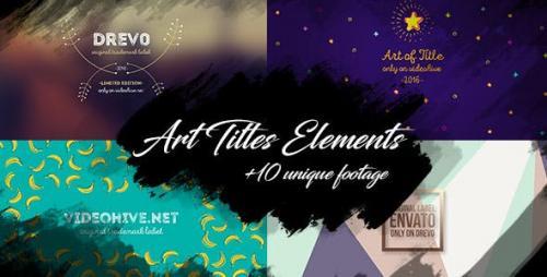 Videohive - 10 Brush Art Titles Text Backgrounds/ Cartoon/ Grunge Texture Footage/ Wedding/ Love/ Travel/ Blog