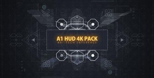 Videohive - 68 HUD UI Ultimate Interface Footage/ Screen of Future/ Iron Man/ Icons/ Grid/ Sci-fi and Technology