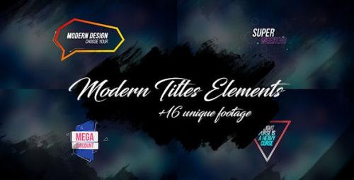 Videohive - 16 Modern Titles Elements Text Backgrounds/ Interface/ Lower Third/ Dance Party/ Youtube Blogger