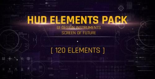 Videohive - 120 HUD UI Interface/ Screen of Future/ Text Placeholder/ Circles/ Markers/ Call-outs/ Line/ Sci-fi