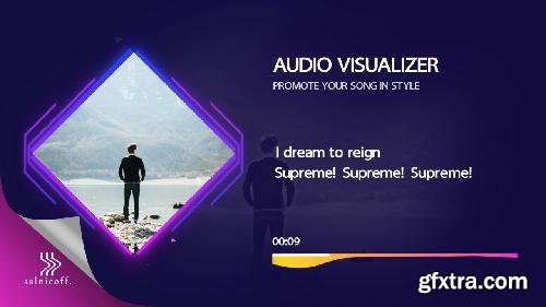 MotionArray Audio Visualizer With Lyrics 299834