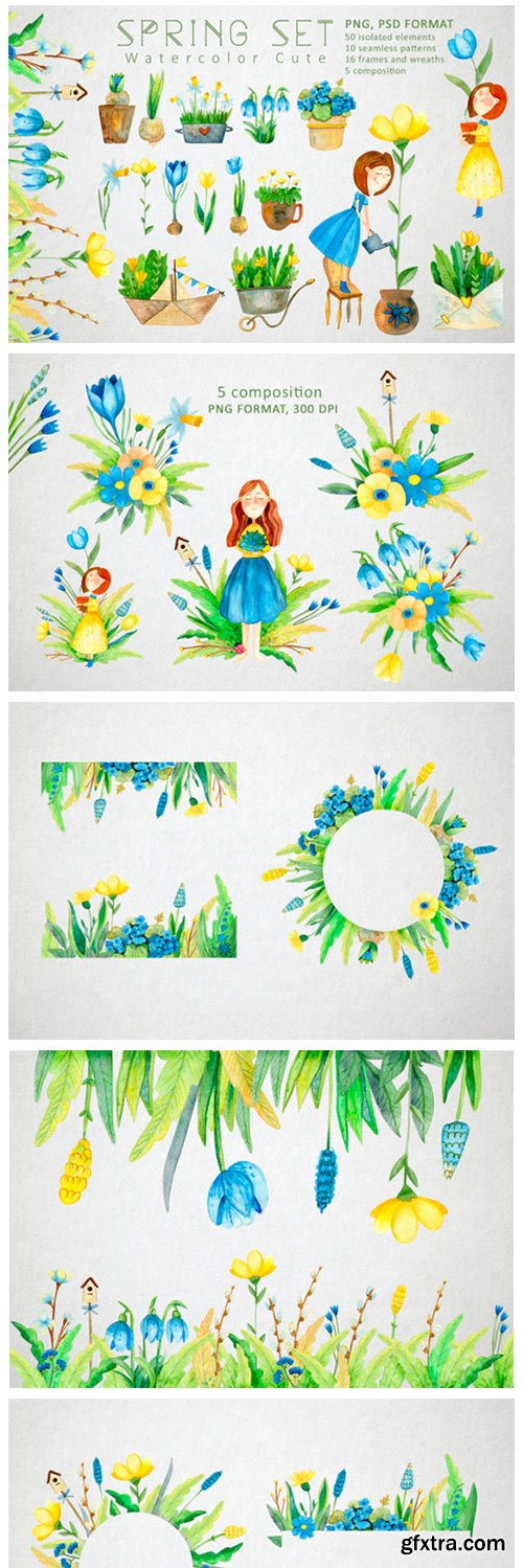 Watercolor Spring Set 2494023