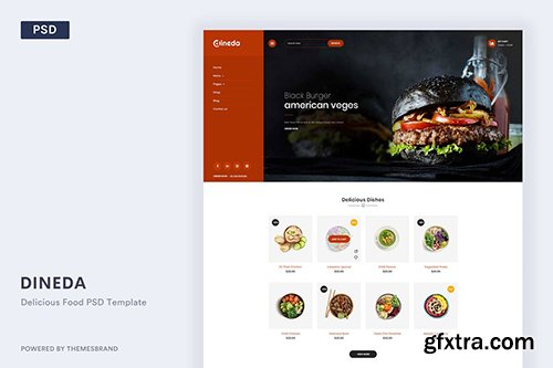Dineda - Delicious Food PSD Template