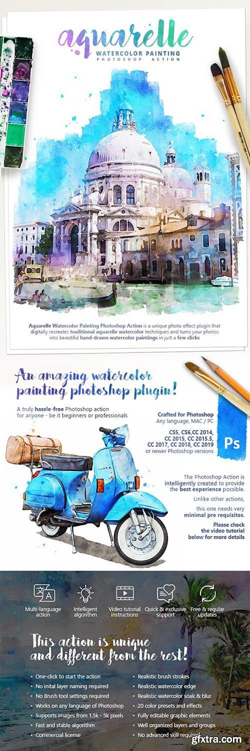 Graphicriver - Aquarelle - Watercolor Painting Photoshop Action 25391242