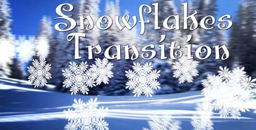 Videohive - Snowflakes Transition