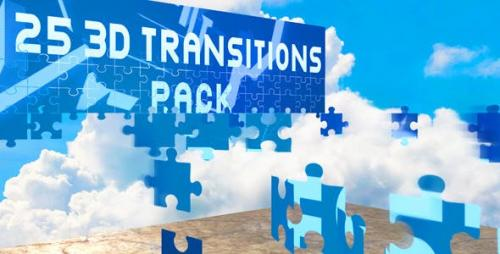 Videohive - 3D Transitions Pack