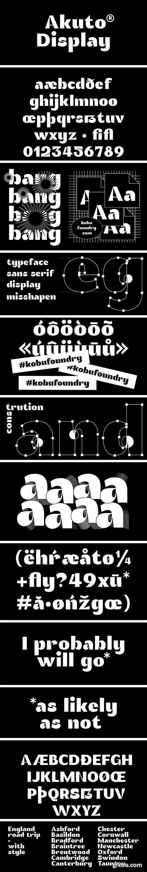 Akuto Display Font