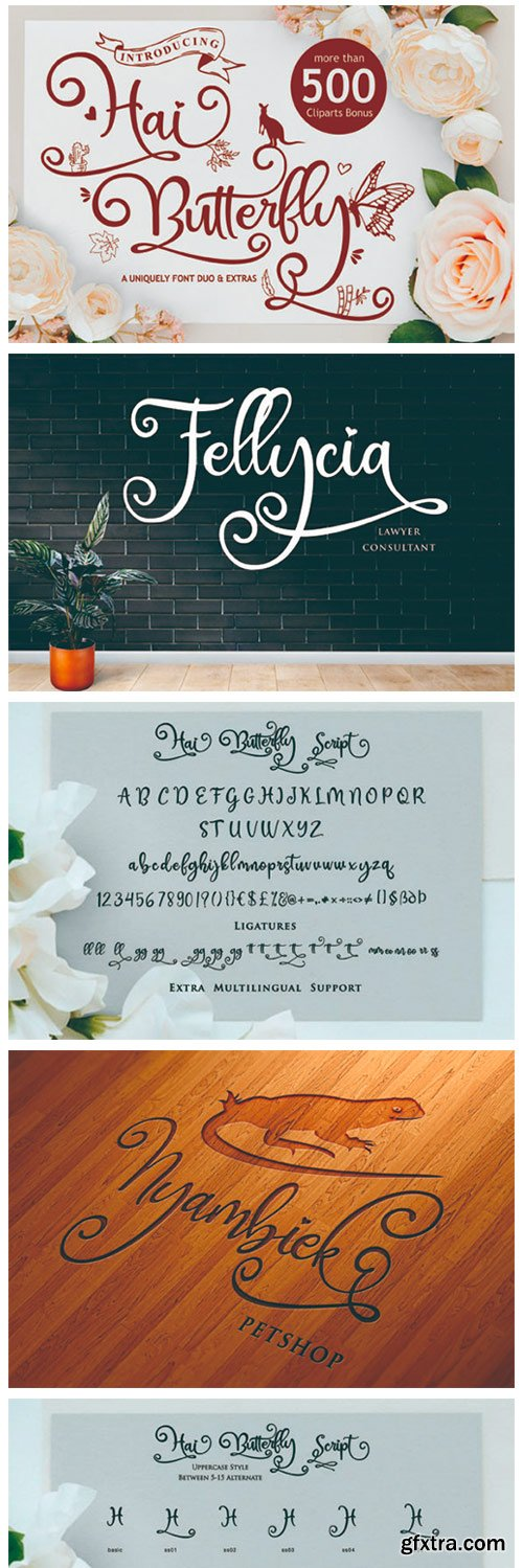 Hai Butterfly Duo Font