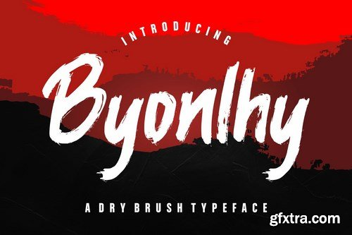 Byonlhy Dry Brush Typeface