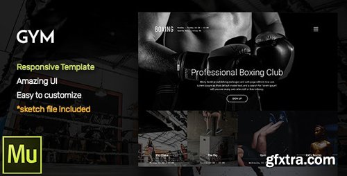 ThemeForest - GYM - Responsive Fitness and Gym Muse CC Template (Update: 20 January 17) - 18501336