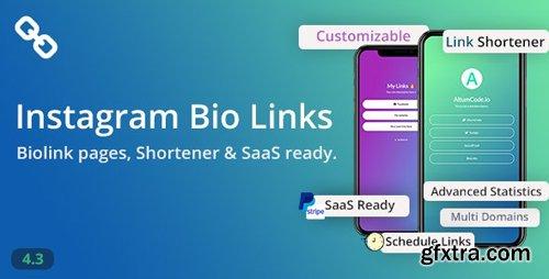 CodeCanyon - BioLinks v4.3.1 - Instagram Bio Links & URL Shortener ( SaaS ) - 20740546 - NULLED