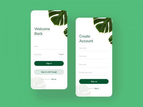 Login - Signup screen app design concept v1 - login-signup-screen-app-design-concept