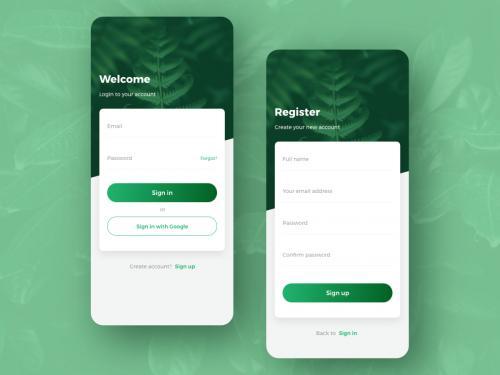 Login - Signup screen app design concept v2 - login-signup-screen-app-design-concept-v2