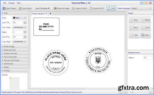 Stamp Seal Maker 3.189 (x64) Multilingual