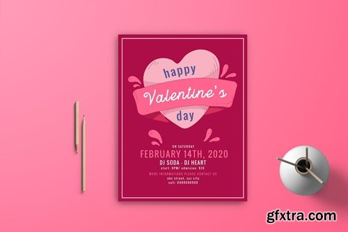 Valentine Flyer Template 5