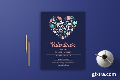 Valentine Flyer Template 6