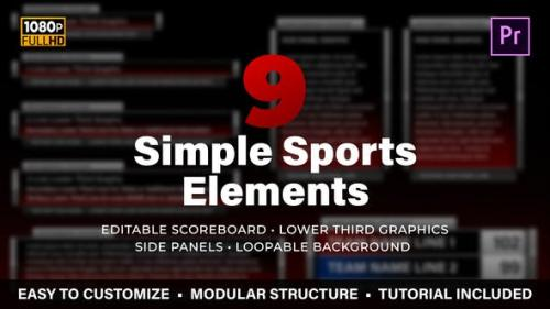 Videohive - Simple Sports Elements Kit | MOGRT for Premiere Pro
