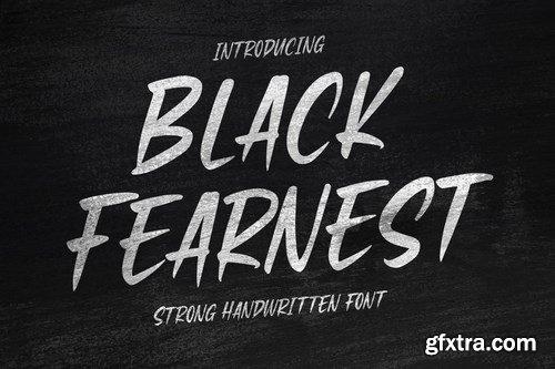 Black Fearnest - Strong Handwritten Font