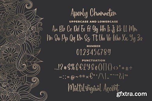 Aperly - Unique Script Font