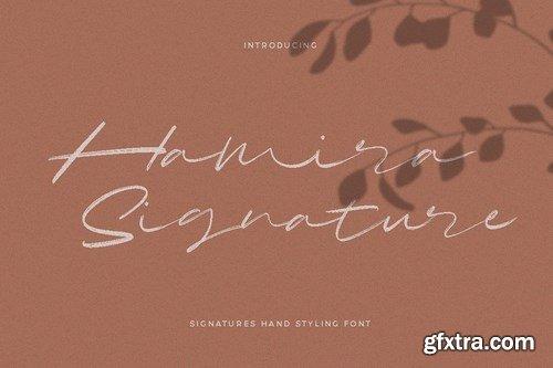 Hamira Signature Font Logotype Brush