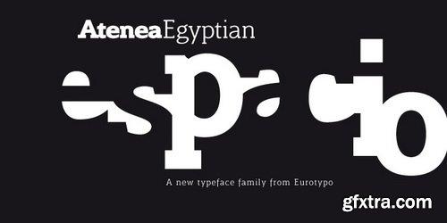 Atenea Egyptian Font Family