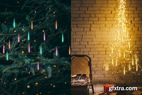GraphicRiver - Gif Animated Meteor Shower Light Photoshop Action 24712030