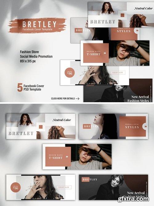 BRETLEY Fashion Store Facebook Cover Template