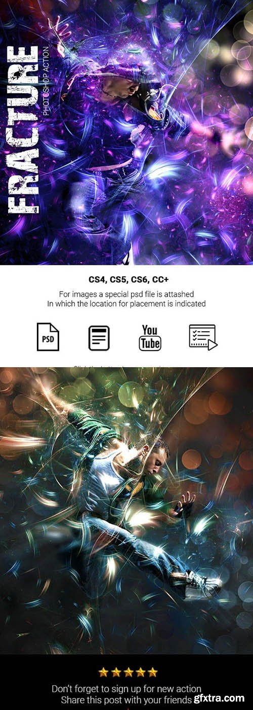 Graphicriver - Fracture Photoshop Action 25368884