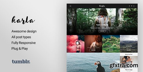 ThemeForest - Karla v1.1.1 - Stunning Personal Blog Theme for Tumblr - 16439479