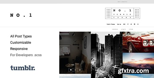 ThemeForest - NO.1 v1.0.7 - Creative Portfolio Tumblr Theme - 15264019