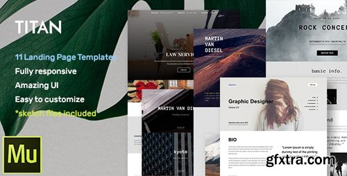 ThemeForest - Titan - Responsive Muse Templates for Landing Page (Update: 20 January 17) - 17369618