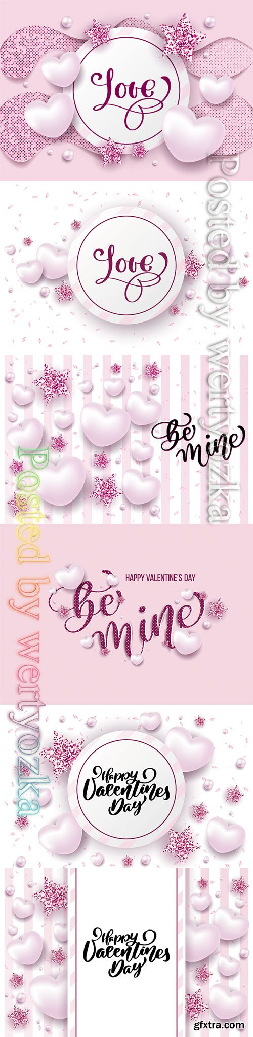 Happy valentine day festive sparkle layout template design