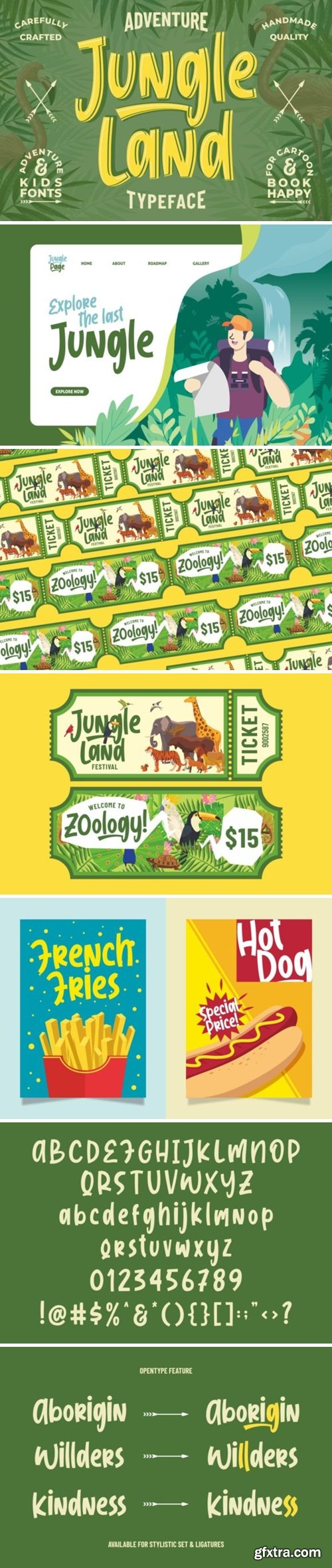 CM - Jungle Land || Kidsventure Font 4477796