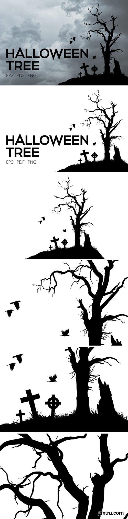 CM - Vector Halloween Tree 3011381