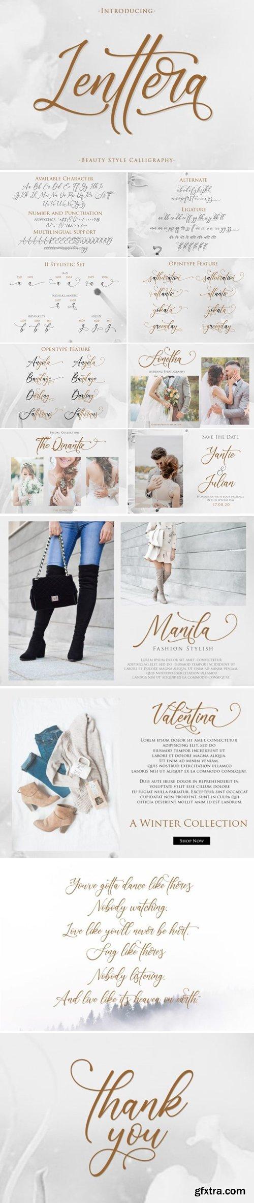 Fontbundles - Lenttera   Beauty Style Calligraphy 421704