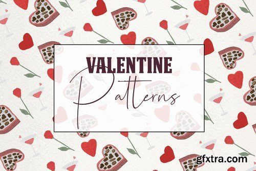 Lovely romantic seamless valentine patterns