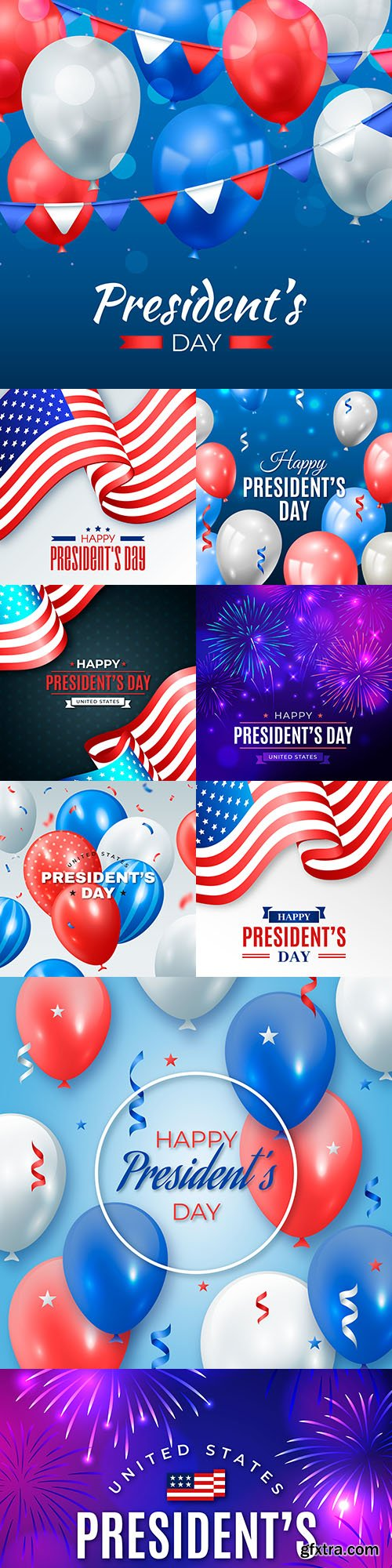 Happy President's Day decorative illustrations 4