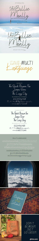 The Billie Monlly Font