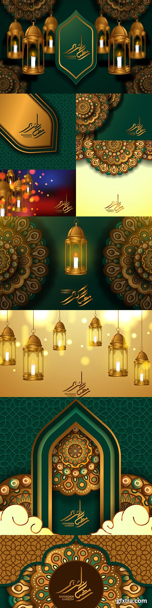 Ramadan Kareem Islamic postcard design template 14