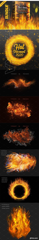 CreativeMarket - Fire & Smoke Bundle PSD 4422579