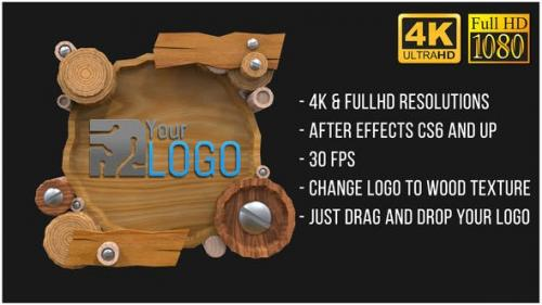 Videohive - Wooden Logo (AfterFX)