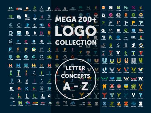 Mega 200+ Logo Collection LATTER CONCEPT A-Z - mega-200-logo-collection-latter-concept-a-z