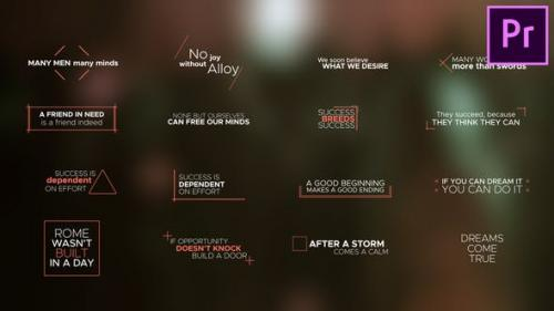 Videohive - Minimal Titles and Lower Thirds