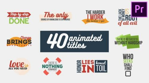 Videohive - 40 Animated Titles