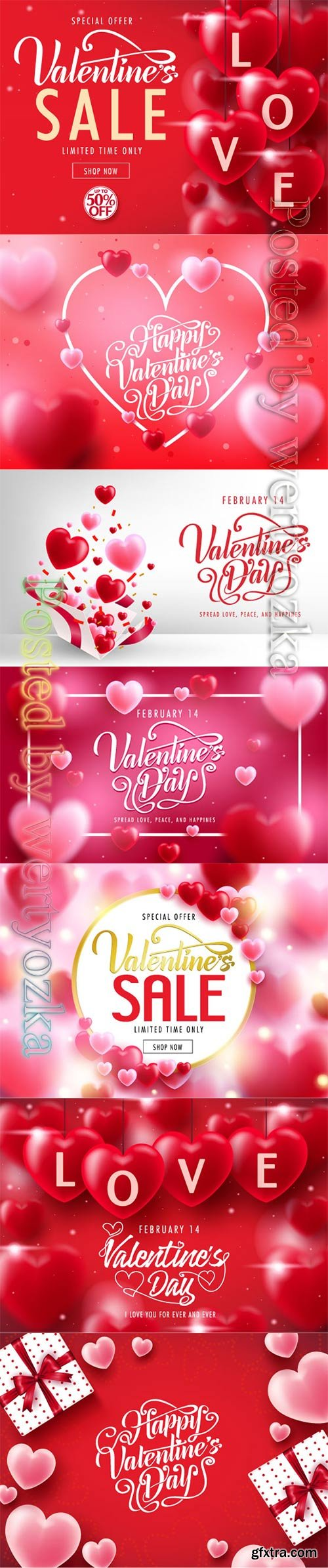 Valentine's Day decorative lovely greeting vector card