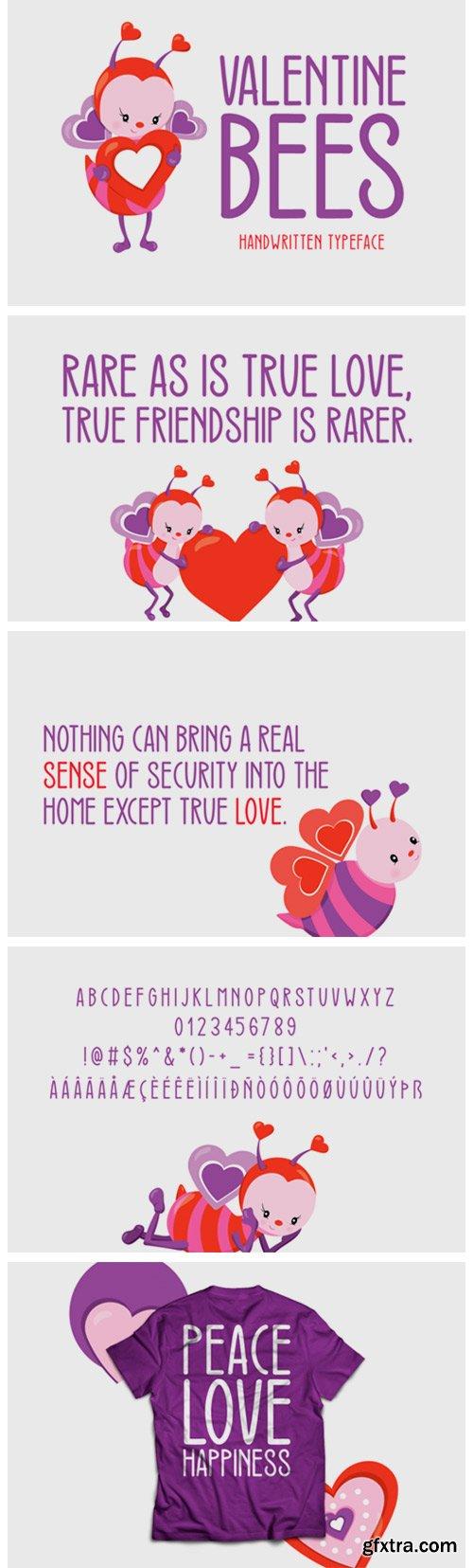 Valentine Bees Font